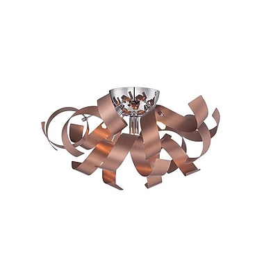 Quoizel RBN1616SG Halogen Flush Mount, Satin Copper