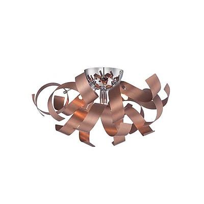 Quoizel RBN1616SG Halogen Flush Mount, Satin Copper