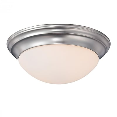 Quoizel SMT1612BN Incandescent Flush Mount, Brushed Nickel