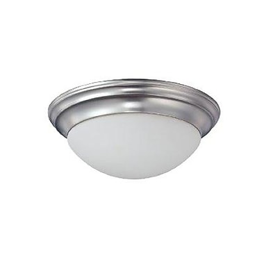 Quoizel SMT1614BN Incandescent Flush Mount, Brushed Nickel