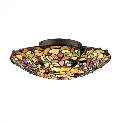 Quoizel TF1396SVB Incandescent Flush Mount, Vintage Bronze