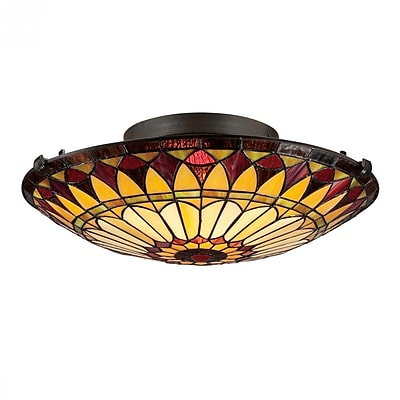 Quoizel TF1400SVB Incandescent Flush Mount, Vintage Bronze
