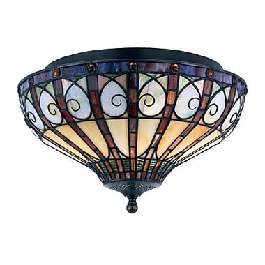 Quoizel TFAV1714VB Incandescent Flush Mount, Vintage Bronze