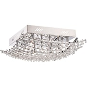 Quoizel VLA1618C Halogen Flush Mount, Polished Chrome