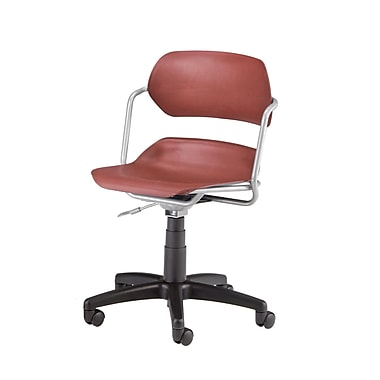 OFM Martisa Plastic Computer and Desk Office Chair, Armless, Wine (845123012055)