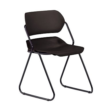 OFM Martisa 202-4PK-BLK-BLK Armless Plastic Stack Chair, Black (845123050286)