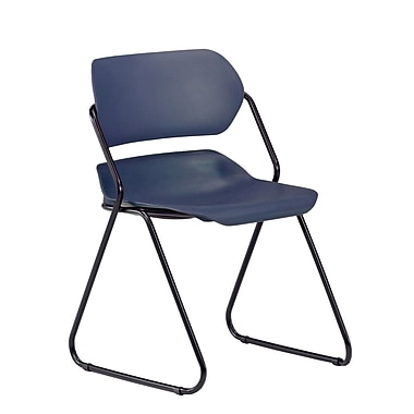 OFM Martisa 202-4PK-BLK-NAVY Armless Plastic Stack Chair, Navy (845123050293)