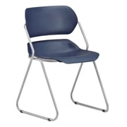 OFM Martisa 202-4PK-SLVR-NAVY Armless Plastic Stack Chair, Navy