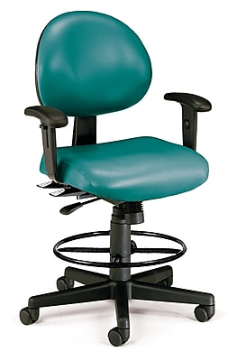 OFM Fabric Computer and Desk Office Chair, Adjustable Arms, Teal (845123012451)
