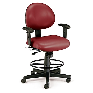 OFM Fabric Computer and Desk Office Chair, Adjustable Arms, Wine (845123012468)