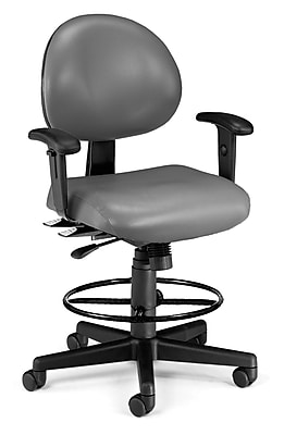 OFM Fabric Computer and Desk Office Chair, Adjustable Arms, Charcoal (845123012475)