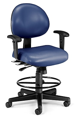 OFM Fabric Computer and Desk Office Chair, Adjustable Arms, Navy (845123012482)
