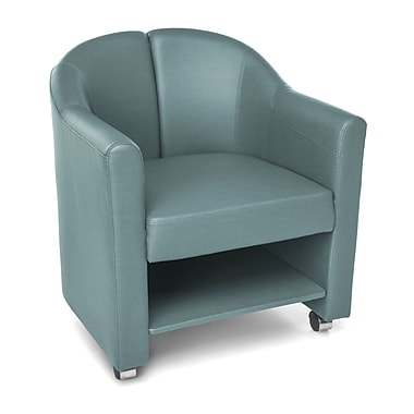 OFM Contour Mobile Club Chair, Aqua