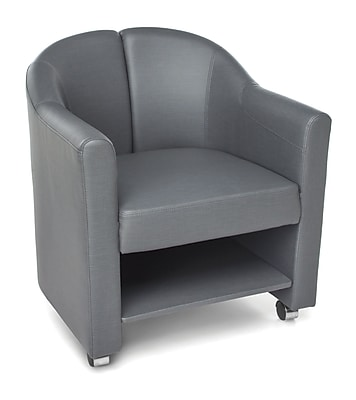 OFM Contour Mobile Club Chair, Slate