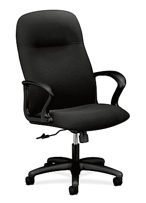HON Gamut Wood Executive Office Chair, Fixed Arms, Black (HON2071AB10T)