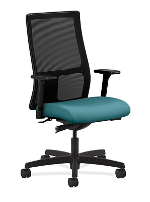 HON Ignition Fabric Executive Office Chair, Adjustable Arms, Glacier (HONIW103CU96)