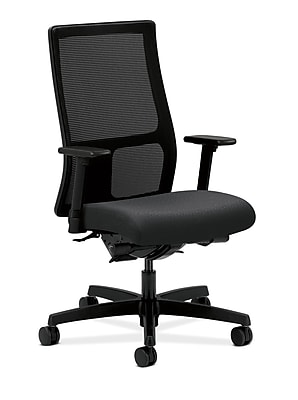 HON® Ignition® Mid-Back Office/Computer Chair, Arms, Charcoal