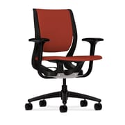HON Purpose Fabric Computer and Desk Office Chair, Adjustable Arms, Poppy/Onyx (HONRW101ONCU42)