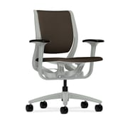 HON Purpose Fabric Computer and Desk Office Chair, Adjustable Arms, Espresso/Platinum (HONRW101PTCU49)