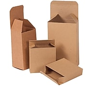 "2""  x  1.25""  x  3""  Reverse  Tuck  Folding  Cartons,  Brown,  500/Carton (BSRTS14)"