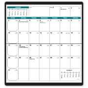 """Quo Vadis 2018 Visoplan Monthly Vinyl Cover Planner, 6-3/4"""" x 3-1/2"""", Refillable, Assorted Cover Colours, English"""