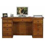 Eagle Furniture Manufacturing Classic Oak Double Pedestal Executive Desk; Concord Cherry