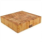 John Boos BoosBlock Square Maple Butcher Block Cutting Board; 18'' x 18''
