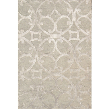 Pasargad Hand-Knotted Silk and New Zealand Merino Wool Gray Area Rug