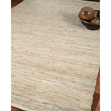 Natural Area Rugs Anchor Leather Hand Loomed Area Rug; 4' x 6'