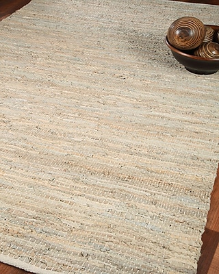 Natural Area Rugs Anchor Leather Hand Loomed Area Rug; 6' x 9'
