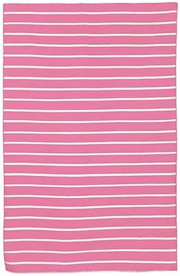 Liora Manne Sorrento Pinstripe Pink Indoor/Outdoor Area Rug; 2' x 3'