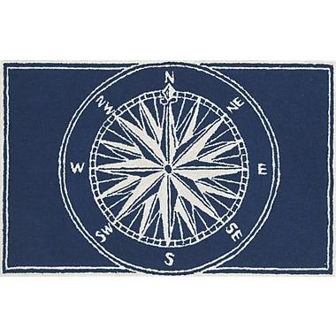 Liora Manne Frontporch Compass Navy Indoor/Outdoor Area Rug; 2' x 3'