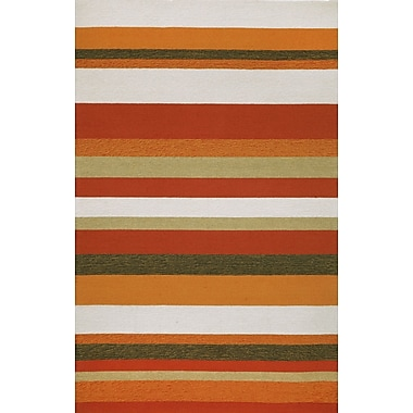 Liora Manne Ravella Stripe Orange Area Rug; 8'3'' x 11'6''