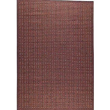 Hokku Designs Roark Brown Solid Area Rug; 5'6'' x 7'10''