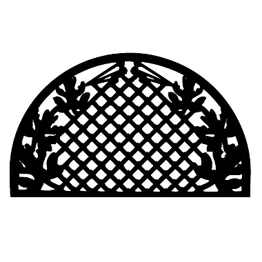 Imports Decor Molded Grid Leaves Doormat; 18'' x 30''