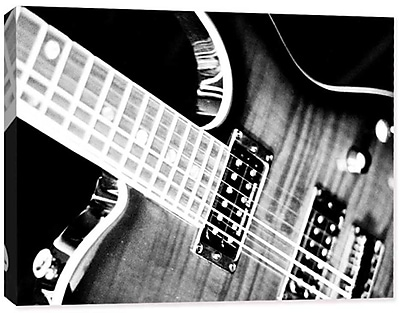 Doodlefish Photography Electric Guitar by Regina Nouvel Photographic Print on Wrapped Canvas