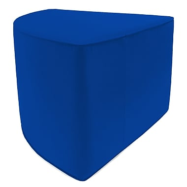 Jordan Manufacturing Indoor/Outdoor Corner Pouf Ottoman; Pacific Blue