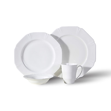 Auratic Chua Yang Bone China 16 Piece Dinnerware Set, Service for 4
