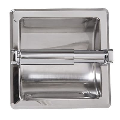 ARISTA Recessed Toilet Paper Holder w/ Galvanized Mount Plate; Chrome