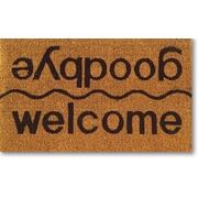 Imports Decor Tufted Welcome / Goodbye Doormat; 18'' x 30''
