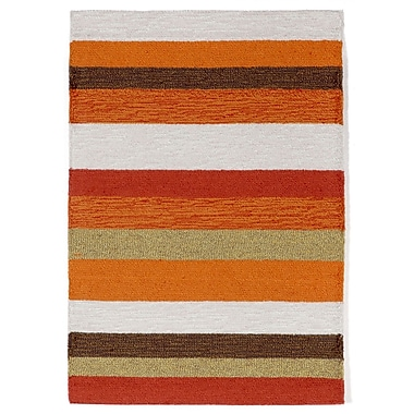 Liora Manne Ravella Stripe Orange Area Rug; 2' x 3'