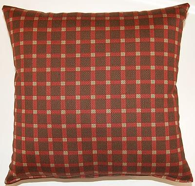 Dakotah Pillow Koko Check Throw Pillow (Set of 2); Chocolate