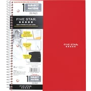 "Five Star Quad-Ruled Premium Notebook, 11"" x 8-1/2"", Assorted"