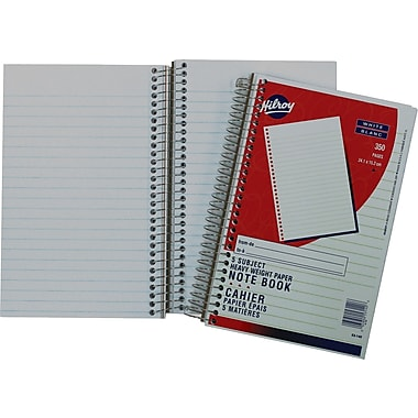 Hilroy 5-Subject Heavy-Weight Notebook, 9-1/2