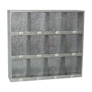 Cheungs Galvanized 12 Hole Wall Cubby