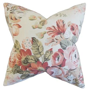 The Pillow Collection Quela Floral Throw Pillow; Blush