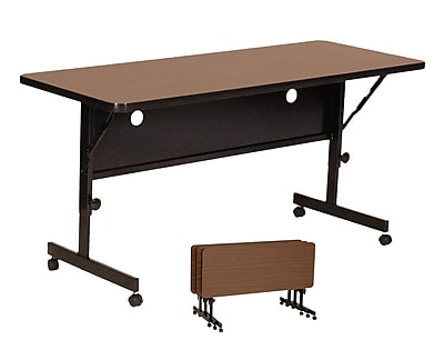 Correll 48'' Rectangular Training Table, Walnut (FT2448-01)
