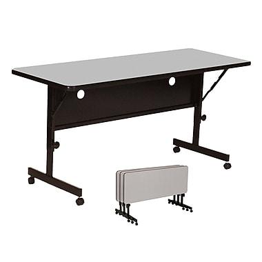Correll 72'' Rectangular Flip Top Training Table, Gray Granite (FT2472-15)