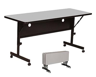 Correll 60-inch Laminate Flipper Training Table, Gray Granite