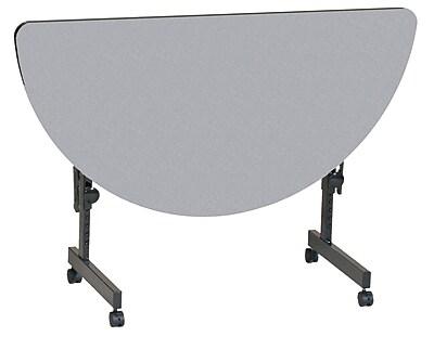 Correll 48'' Semi-Circle Training Table, Gray Granite (FT2448HR-15)